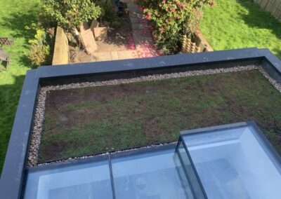 Green roof terrace